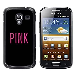 Estuche Cubierta Shell Smartphone estuche protector duro para el teléfono móvil Caso Samsung Galaxy Ace 2 I8160 Ace II X S7560M / CECELL Phone case / / Black Text Minimalist Music /
