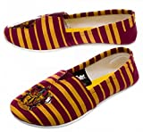 Harry Potter GRYFFINDOR Crest Striped Ladies Canvas Slip-On SHOES - Size Small
