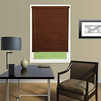 Amazon Com 2 Quot Express Faux Wood Blinds 34 X 64 Dark