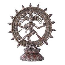 Large Hindu Shiva Nataraja Dancing Statue Bronze Finished