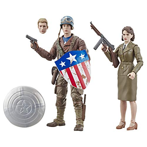 """Marvel Legends Series Captain America: The First Avenger 6""""-Scale Movie-Inspired Captain America & Peggy Carter Collectible Action Figure 2 Pack (Amazon Exclusive) from Avengers"""