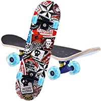 Skateboard Complete 7 Layers Deck 80 * 20cm Skateboard Maple Wood Longboards for Adults Teens Youths Beginners Girls…