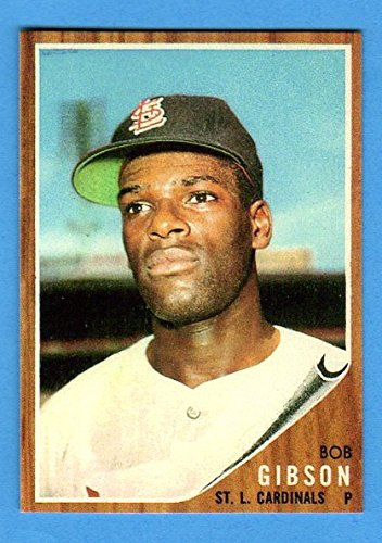 Bob Gibson 1962 Topps High Number Baseball Reprint **Hall of Fame** (Cardinals)