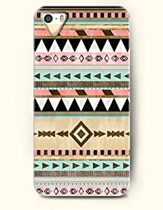 OOFIT Aztec Indian Chevron Zigzag Native American Pattern Hard Case for Apple iPhone 5 5S ( iPhone 5C Excluded ) ( Classic Colorful Retro Aztec Tribal Pattern )