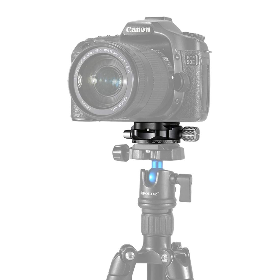 Camera Aluminum Alloy Quick Release Plate for Panoramic Head(Grey) (Color : Grey) by JUNXI