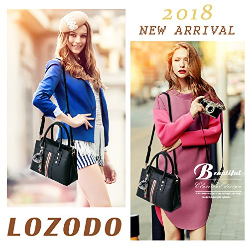 LoZoDo Womens Purses and Handbags Shoulder Bags Satchel Messenger Ladies Designer Tote Bag by LoZoDo (Image #7)