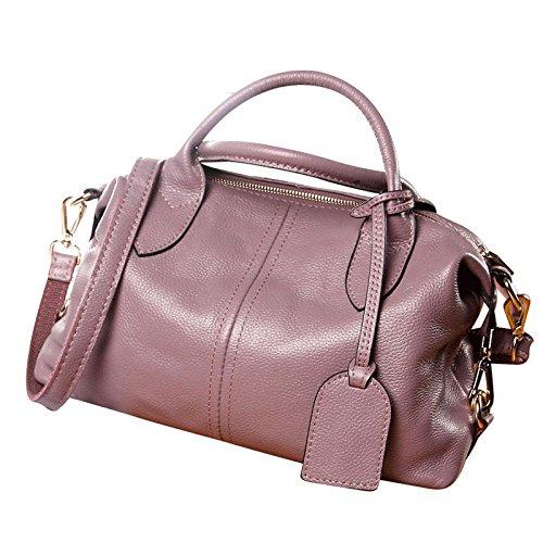 A Spalla Pelle Portatile In Messenger Moda Semplice Europea Borsa Bag Boston Pink Bellezza Borsa Di fwPq7R