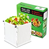 Salad Cutter Bowl Vegetable Chopper, Kitchen Salad Maker/Large Slicer Serves Whole Family in 60 Seconds - Chop Food for Cooking Prep - Cuts Down to the Base with No Mess, Easy Cleaning