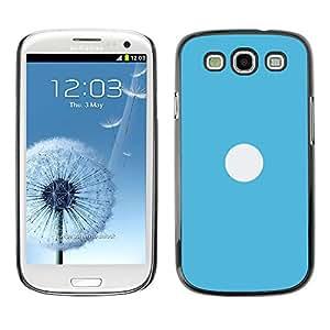A-type Arte & diseño plástico duro Fundas Cover Cubre Hard Case Cover para Samsung Galaxy S3 (Blanco En Azul)