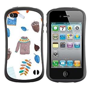 "Pulsar iFace Series Tpu silicona Carcasa Funda Case para Apple iPhone 4 / iPhone 4S , Dejadores suéter blanco Acorn"""