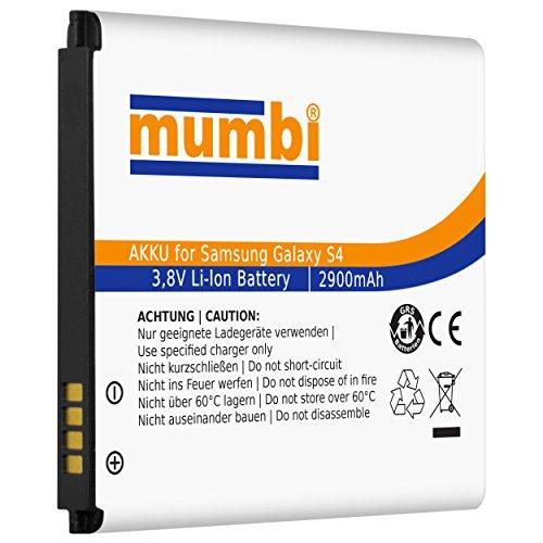 mumbi Ersatz Akku Samsung Galaxy S4 Ersatzakku 2900mAh (ohne NFC)