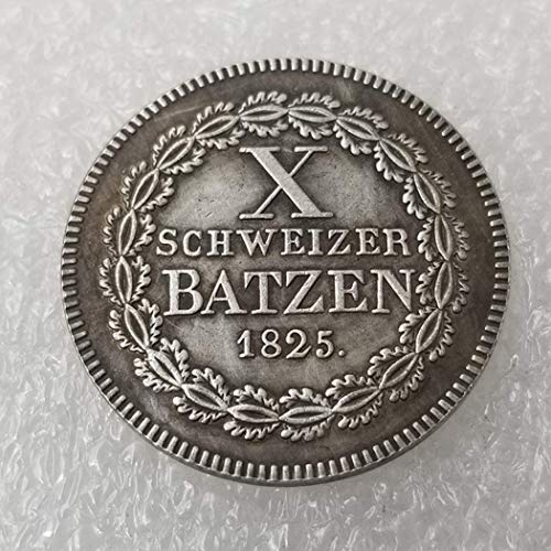 GreatSSCoin 1825 Swiss Uncirculated Coins -Franc Old Coin-Old Switzerland Swiss Coin -Great Switzerland Commemorative Coin-Discover History of Coins Great Uncirculated Coin (Franc Coin)