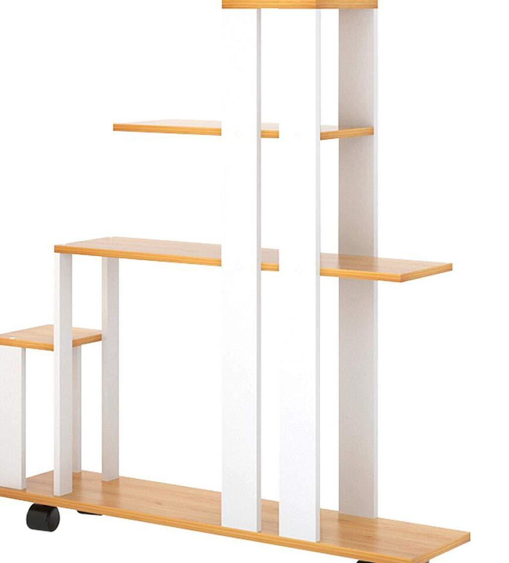 MYYDD Balcone Fiore Stand Multi-Layer Camera Built-in Rack Semplice e Semplice Fiore Pot Rack Piano-Standing Fiore carnoso Rack, 2 Colorei,A