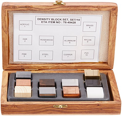 United Scientific DCSET10 Density Cube Set, 10 Cubes