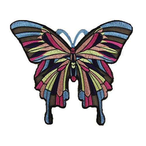 Colorful Butterfly Sew Iron On Patch Embroidered DIY Clothes Bag Fabric Applique yingyue]()