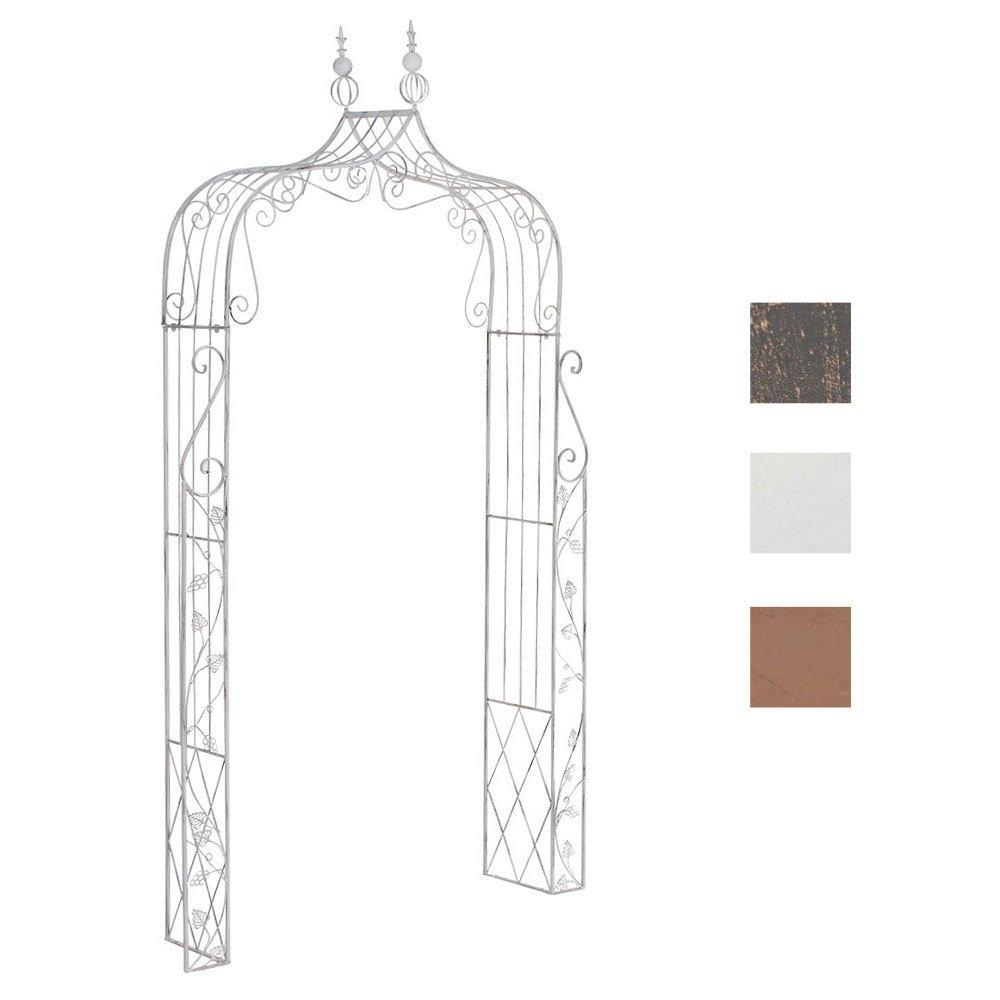 CLP Metall-Rosenbogen AURORA, 2 verschiedene Aufbau Möglichkeiten, pulverbeschichtet, sehr stabil antik weiß