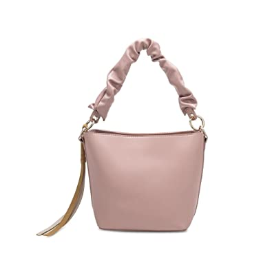 697a69f16db Melie Bianco Rachel Vegan Leather Bucket Crossbody Bag, Blush: Handbags:  Amazon.com
