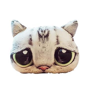 Luckybaby - Almohada 3D con Forma de Gato para la Cabeza del Coche, Almohada para