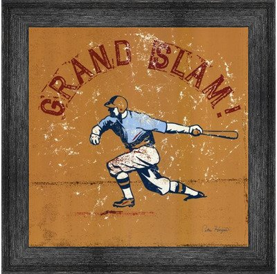 - Poster Palooza Framed Grand Slam- 12x12 Inches - Art Print (Black Barnwood Frame)