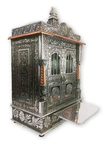 Amazon Com Domestic Elegant Designer Oxodized Wooden Hindu Pooja
