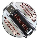 Ubuntu Linux 12.10 Bootable 8GB USB Flash Drive and DVD set - 32-bit and 64-bit.