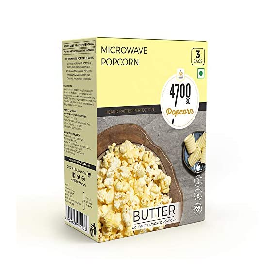 4700BC Popcorn,Microwave Bag,Butter,255g,(Pack of 3)