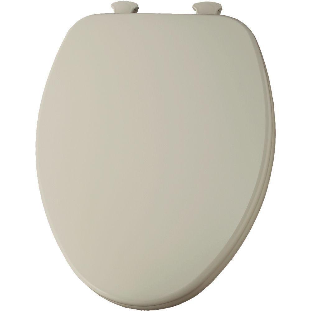 Bemis 585EC 146 Lift-Off Elongated Closed Front Toilet Seat, Almond