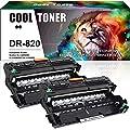 Cool Toner Compatible Drum Unit Replacement for Brother DR820 DR-820 Drum for Brother HL-L6200DW MFC-L5900DW HLL6200DW HL-L6200DWT HL-L5100DN HL-L5200DW MFC L5850DW L6800DW Business Laser Printer-2PK