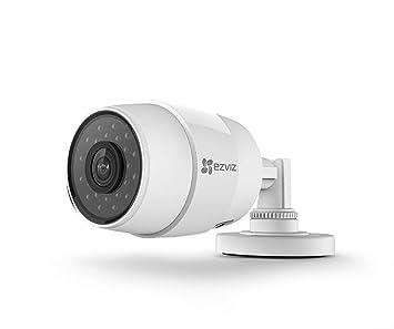 EZVIZ C3C, 720p HD Cámara de Tipo Bala WI-FI Exterior con visión Nocturna, Impermeable, Distancia Focal 2.8mm, Blanca: Amazon.es: Bricolaje y herramientas