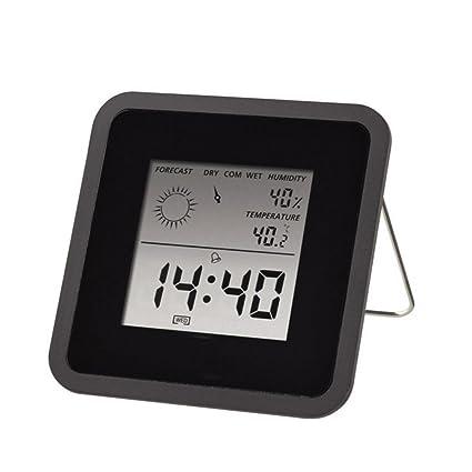 Interior Digital Humedad Temperatura,DXNSPF Clima Supervisión Relojes, Termómetro Sensor, Casa Estación Meteorológica