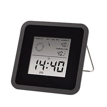 Interior Digital Humedad Temperatura,DXNSPF Clima Supervisión Relojes, Termómetro Sensor, Casa Estación Meteorológica Digital Reloj: Amazon.es: Hogar