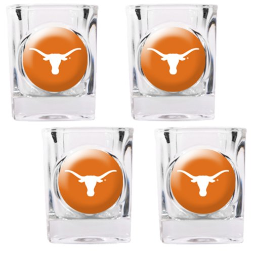 NCAA Texas Longhorns Square Shot Glass Set - Shot Square Texas Glass Longhorns