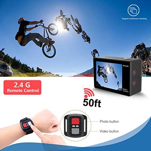 DROGRACE Sports DV Camera Wifi Camera Waterproof 4K 60fps 30fps 1080p Full for Youtube Remote Digital 12MP 170 Wide 6G Lens