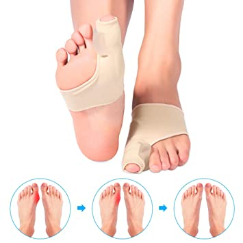 Bunion Relief Sleeves, Bunion Corrector Pad Big Toe Separator Toe Joint Protector with Silicone Gel