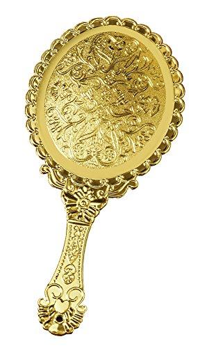 Hand Mirror - Gold-Tone Victorian Vanity Mirror