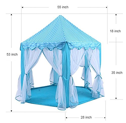 Dress Up Castle Storage (Princess Castle PLay Tent By Sid Trading fairy princess castle (Blue))
