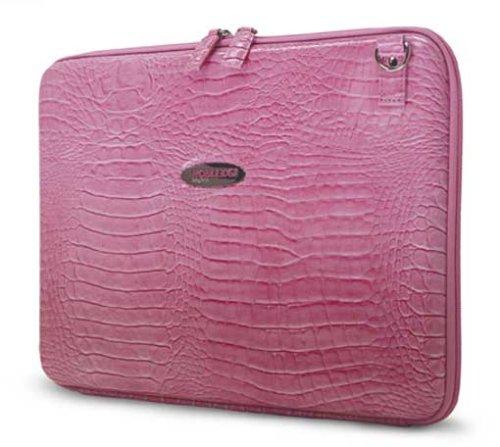 - Mobile Edge Faux Croc Portfolio Pink