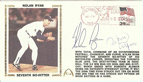 Nolan Ryan Roberto Alomar Dual Signed Autographed First Day Cover U06484 - JSA Certified - MLB Cut Signatures