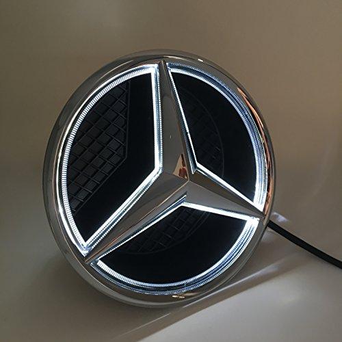 Wire Decorative Grille (Cszlove Car Front Grilled Star Emblem LED Illuminated Logo Center Front Badge Lamp Light for Mercedes Benz 2015-2017 GLC GLE GLS - White Light)
