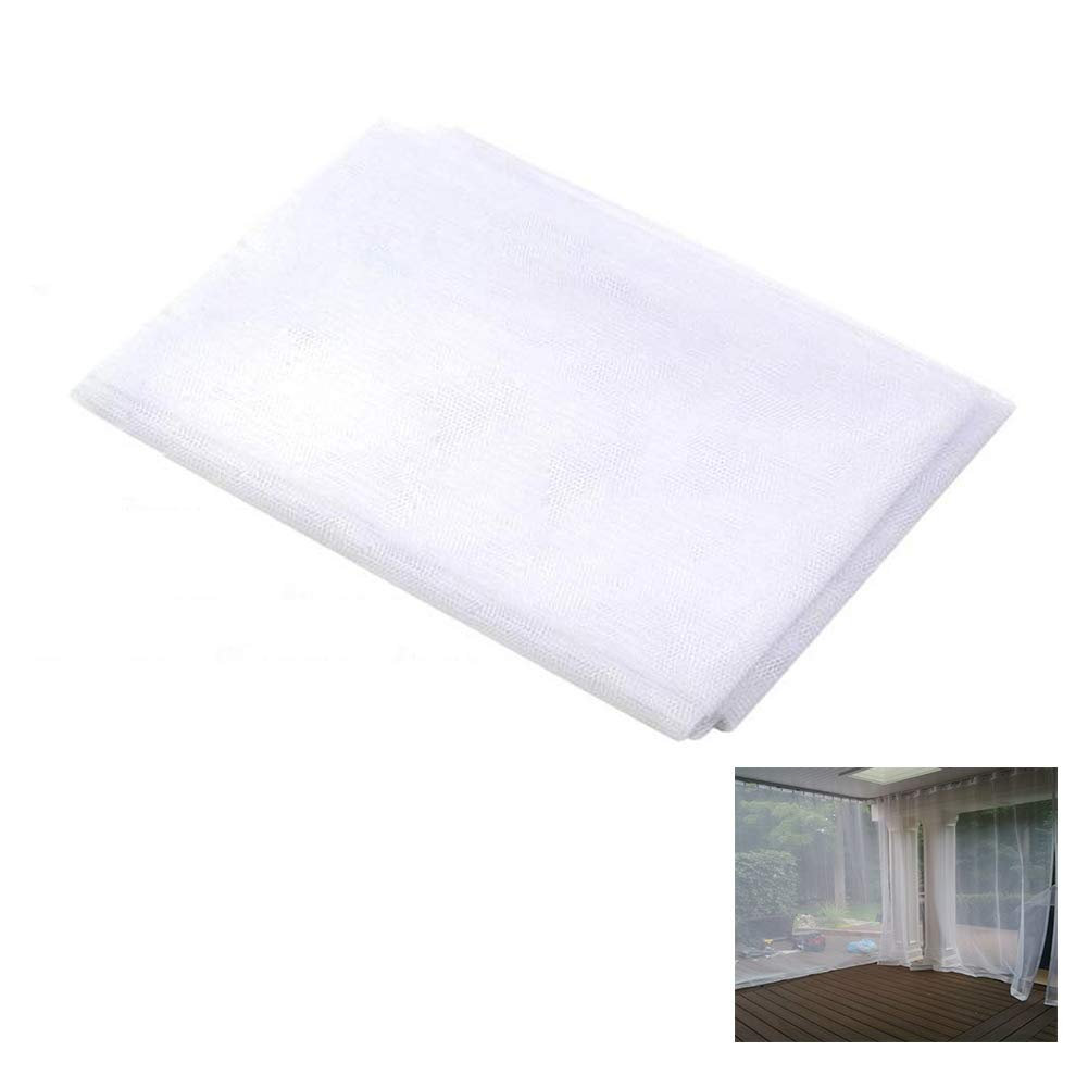 Ecover Mosquito Net DIY Fabric Insect Pest Barrier Netting Curtains for Home/Travel/Camping, 10ft x 54'', White