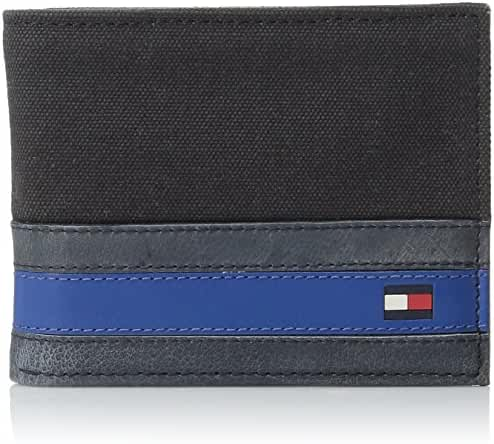 Tommy Hilfiger Men's Exeter Passcase Billfold Wallet with Removable Card Holder