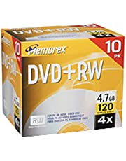 Memorex 4.7GB 4X DVD+RW Media (10-Pack) (Discontinued by Manufacturer)