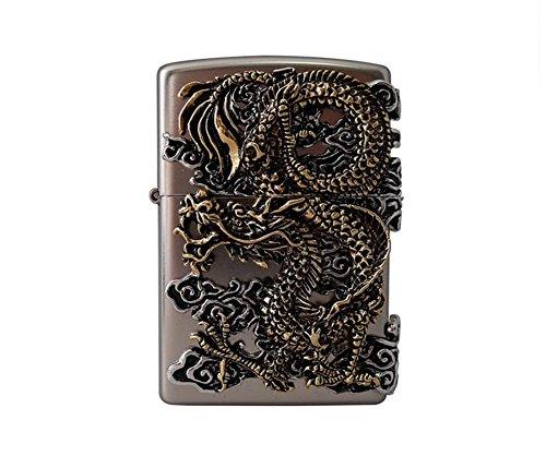[Zippo] Flying Dragon SI Lighter / Genuine Authentic / Original Packing (6 Flints set Free Gift) ()