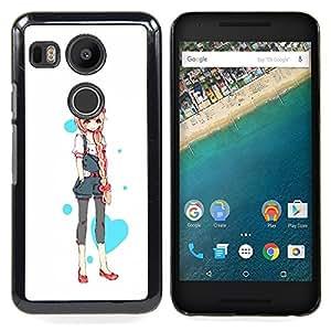 - Love Heart Princess Anime Japanese/ Duro Snap en el tel????fono celular de la cubierta - Cao - For LG Google Nexus 5X