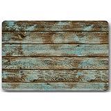 """Rustic Old Barn Wood Door Mats Cover Non-Slip Machine Washable Outdoor Indoor Bathroom Kitchen Decor Rug Mat Welcome Doormat - 23.6""""(L) x 15.7""""(W), 3/16"""" Thickness"""