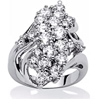 Phetmanee Shop Lady Women 925 Silver White Sapphire Wedding Engagement Jewelry Ring Gift #6-10 (6)