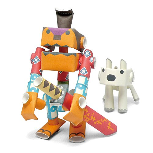 PIPEROID Rokusuke & Hachi Paper Craft Robot kit from Japan - Samurai & His Dog ()