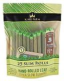 8pc Display - King Palms Hand Rolled Leaf - 25per PK - Slim