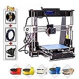 3D Printer, Trovole A8-W5 Pro DIY LCD Screen Desktop 3D Printer Kit with 1.75mm ABS/PLA Printer Filament(Build Size 220×220×240mm)
