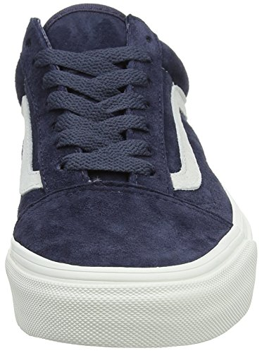 Trainers Red Old Parisian Blanc Night Blue Top De Blanc Suede Low Vans Pig Skool Adults' Unisex ZfYYap